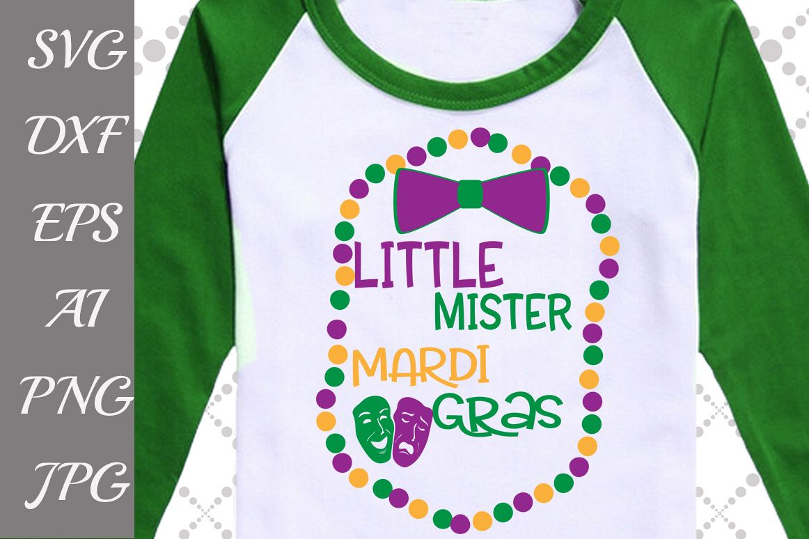 Little Mister Mardi Gras Svg example image 1