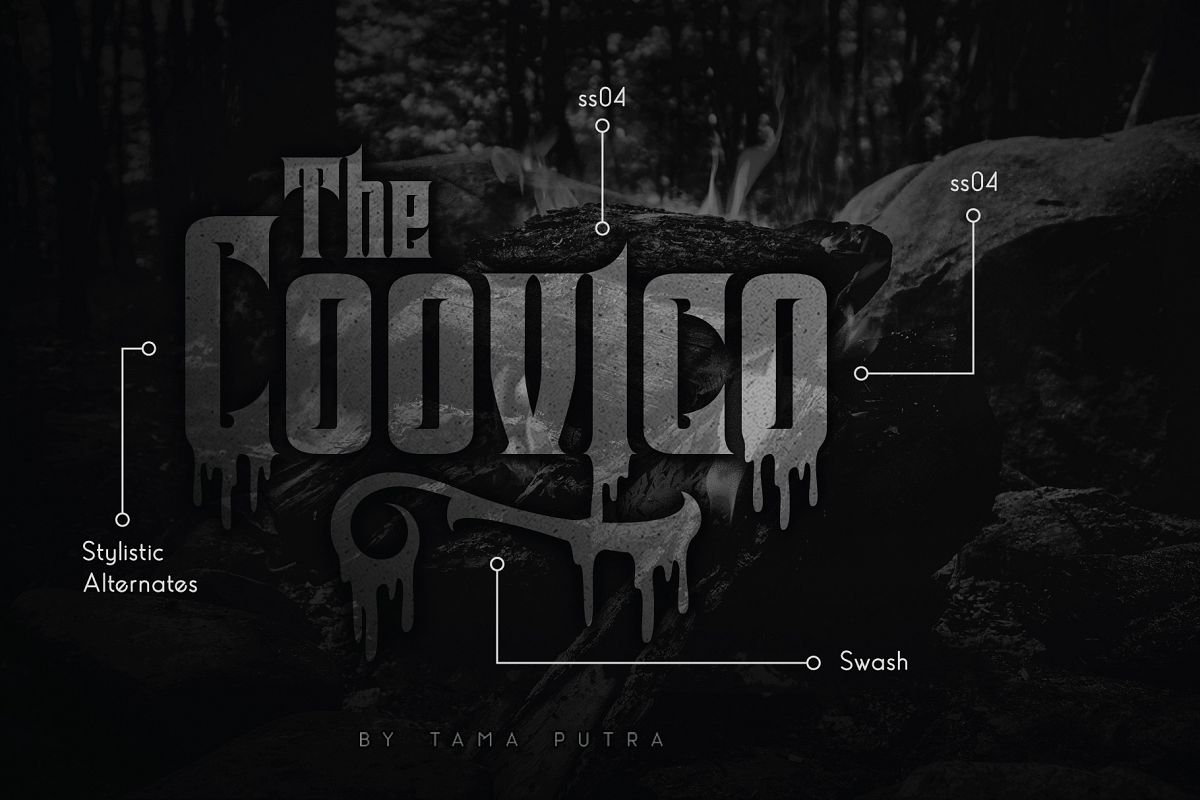 Coovico Bloody Typeface example image 1