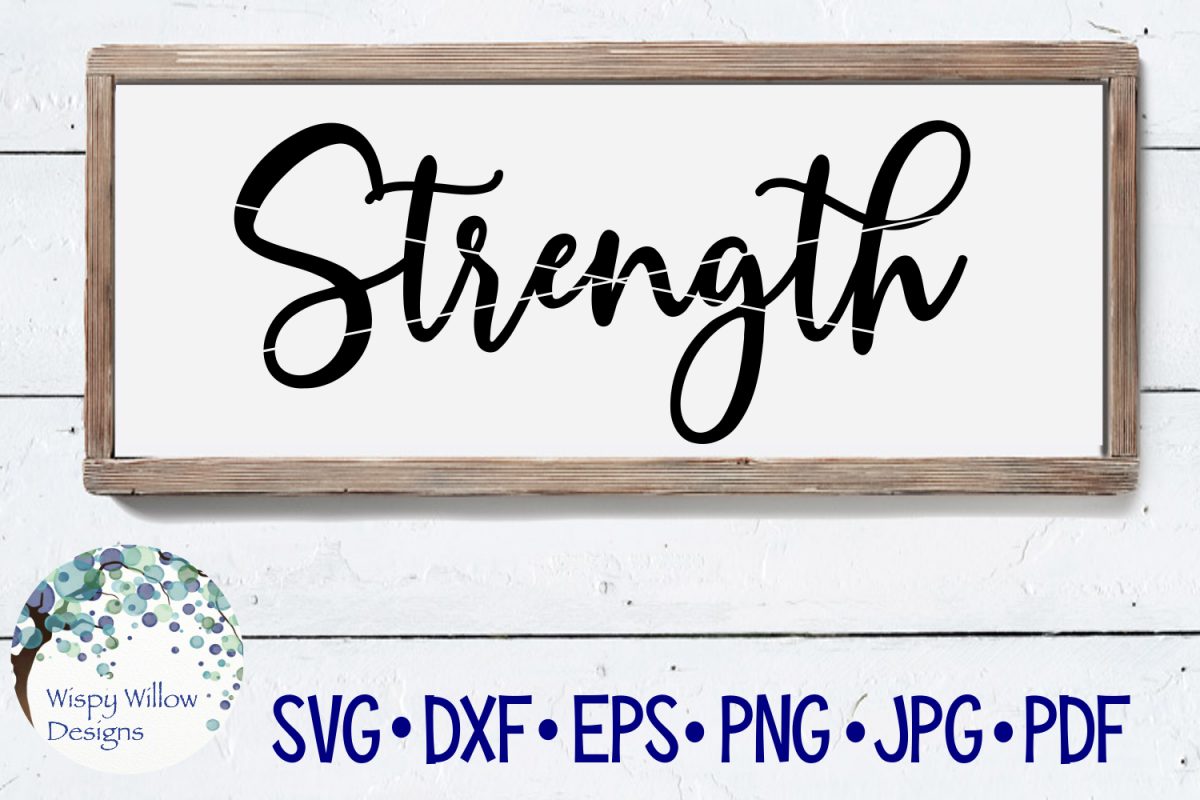 Strength SVG Cut File example image 1