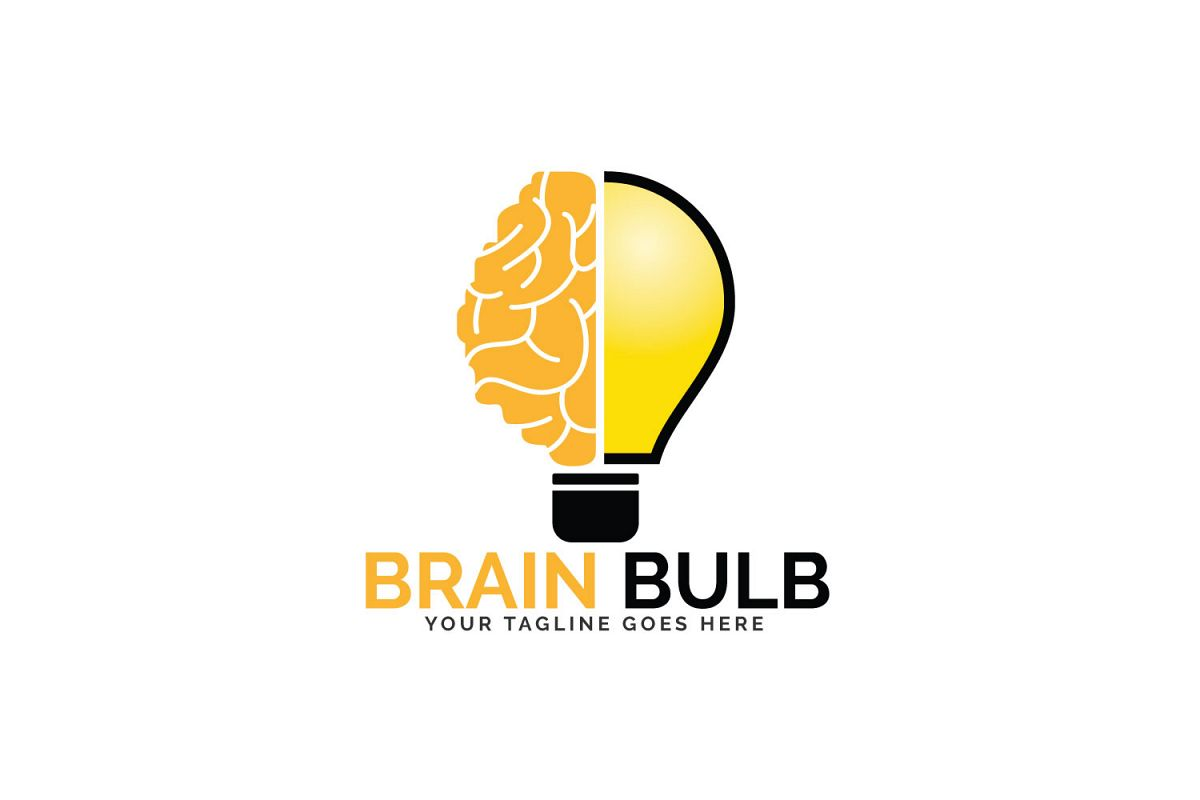 Brain Bulb Logo Design. example image 1