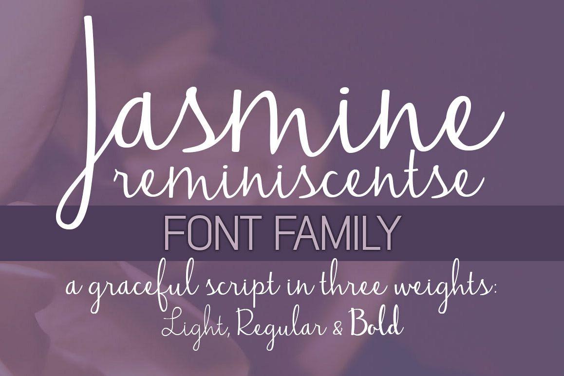 Jasmine Reminiscentse Font Family example image 1