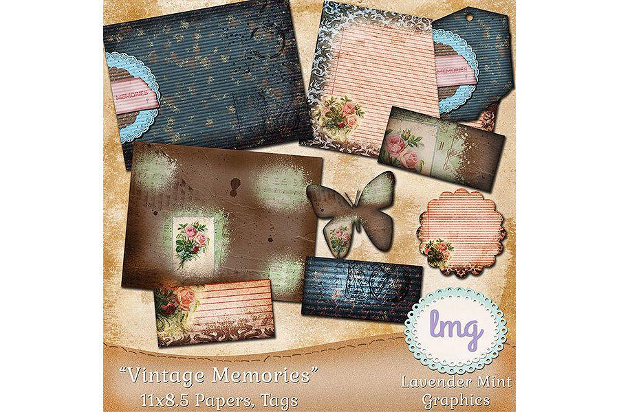 Vintage Memories Journal Papers 11x8.5 example image 1