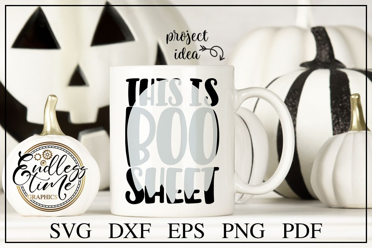 This is Boo Sheet - a Funny Halloween Knockout SVG Cut File example image 1