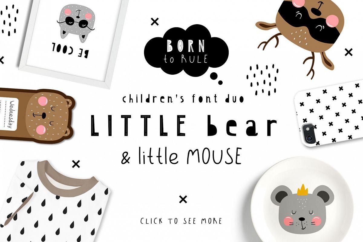 LittleBear & LittleMouse - Font Duo example image 1
