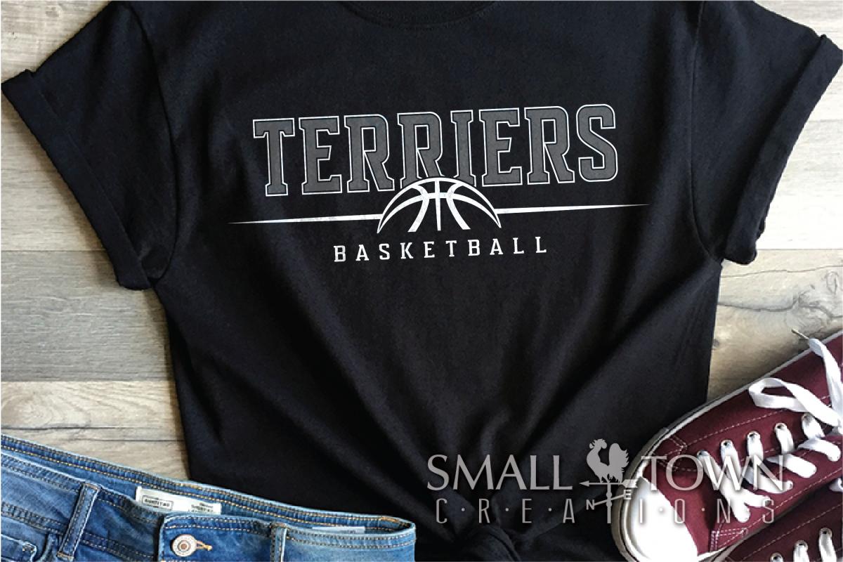 Terrier, Basketball, Sport, Team, Logo, PRINT, CUT, DESIGN example image 1