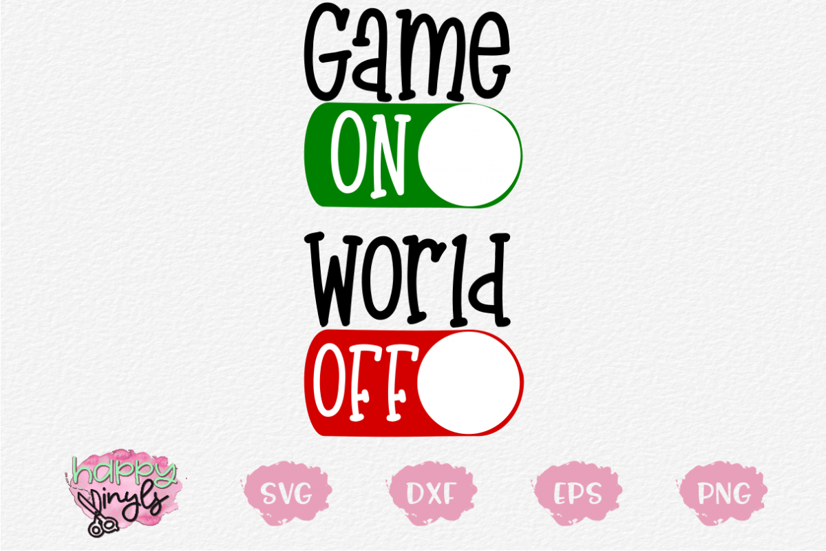 Game On World Off - A Gaming SVG example image 1