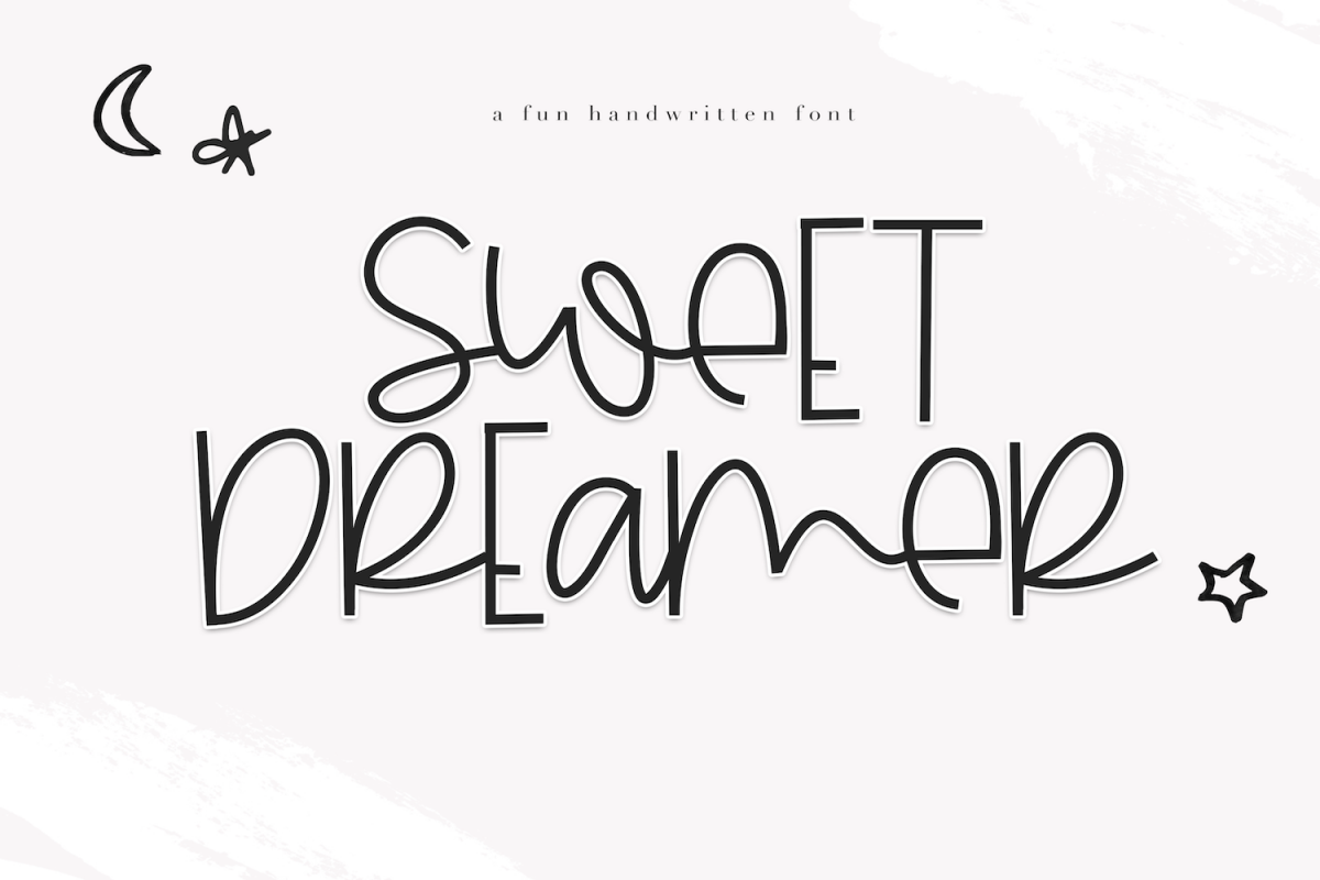 Sweet Dreamer - A Fun & Mismatched Font example image 1