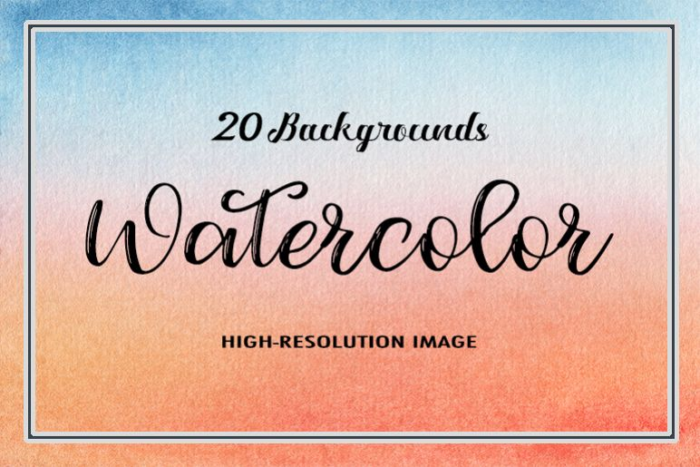20 Watercolor Backgrounds example image 1