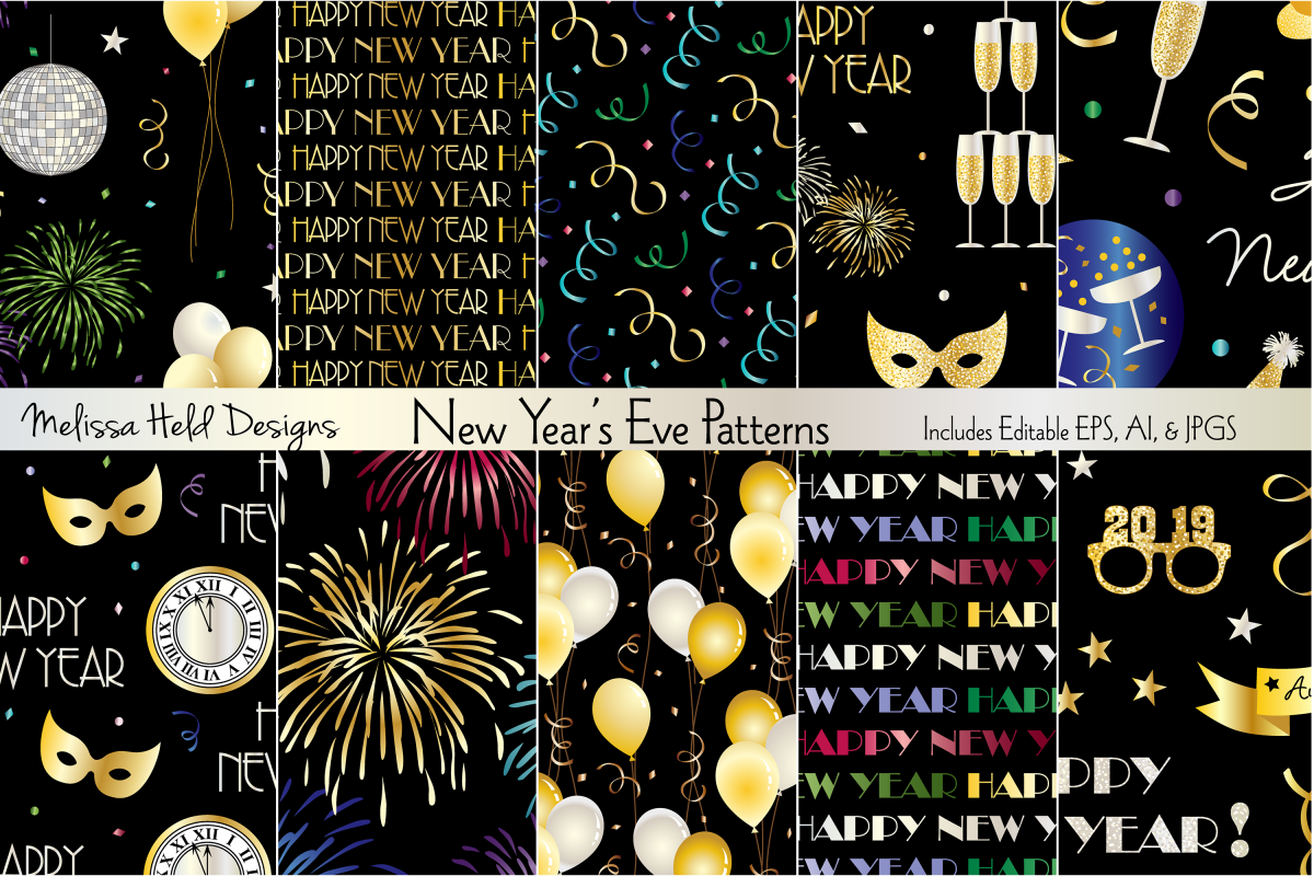 New Year's Eve Patterns example image 1