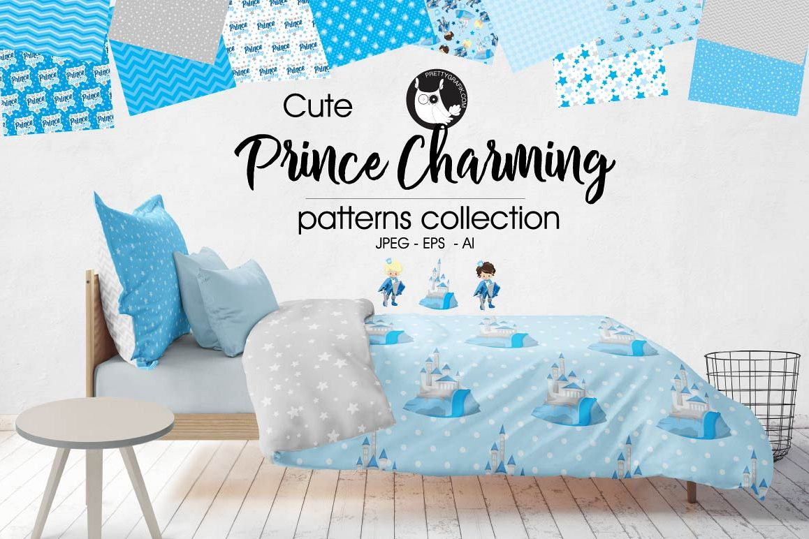 PRINCES-CHARMING, digital papers example image 1