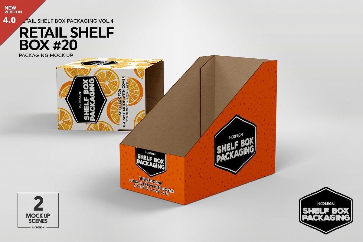Retail Shelf Box 20 Packaging Mockup example image 1