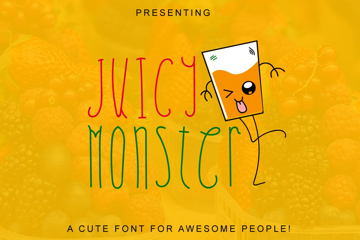 Juicy Monster - A Fun Cute Font example image 1