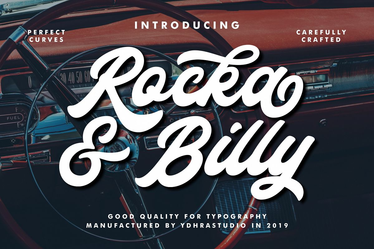 Rocka & Billy - Bold Script Font example image 1