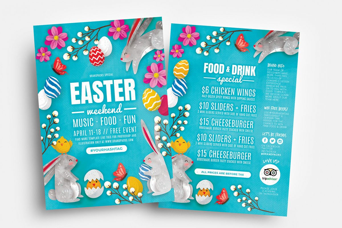 Easter Flyer Templates example image 1