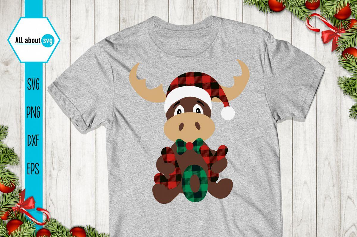 Reindeer Buffalo Plaid Svg, Christmas Joy Svg example image 1