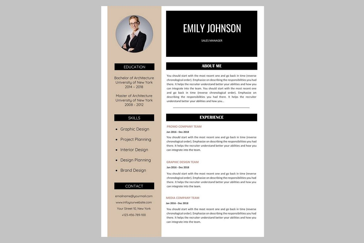 creative resume template    cv