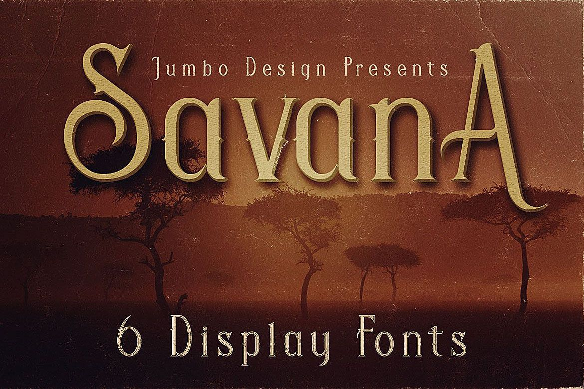 Savana - Display Font example image 1