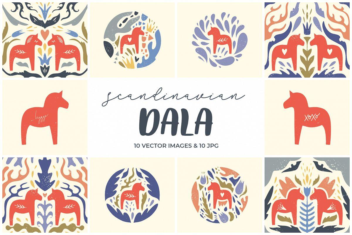 Dala horse clip art example image 1