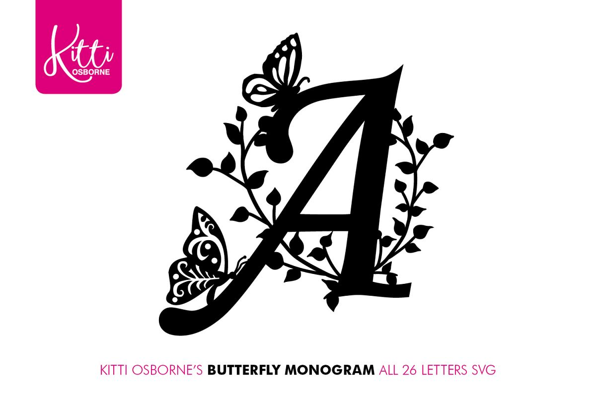 Butterfly Alphabet SVG Bundle example image 1