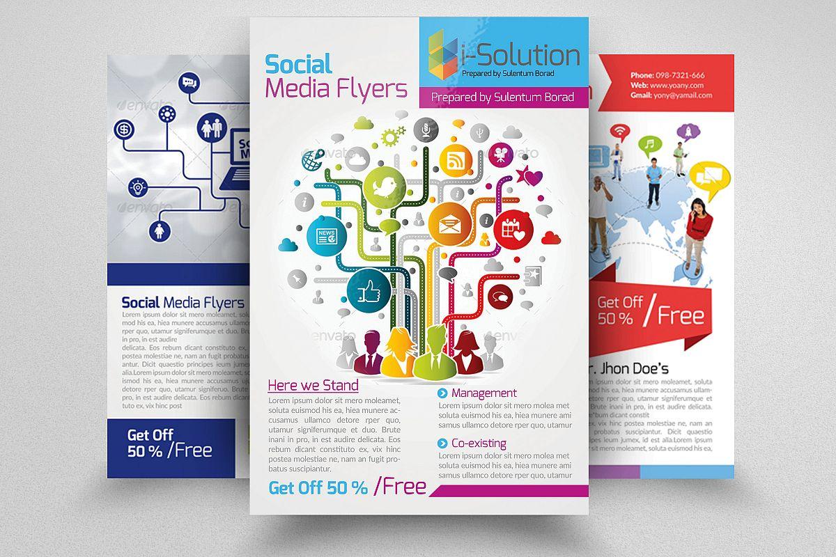 Sociel Media Flyers example image 1