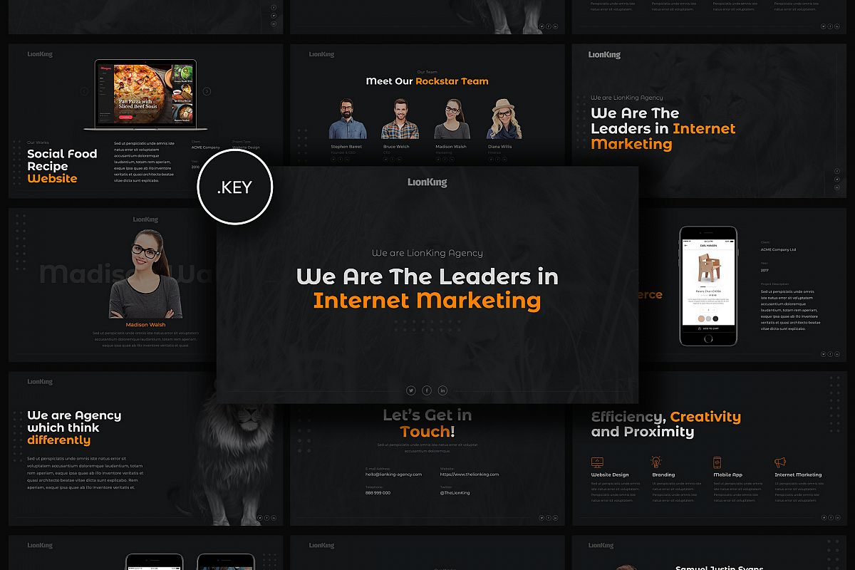 LionKing - Business Keynote Template example image 1