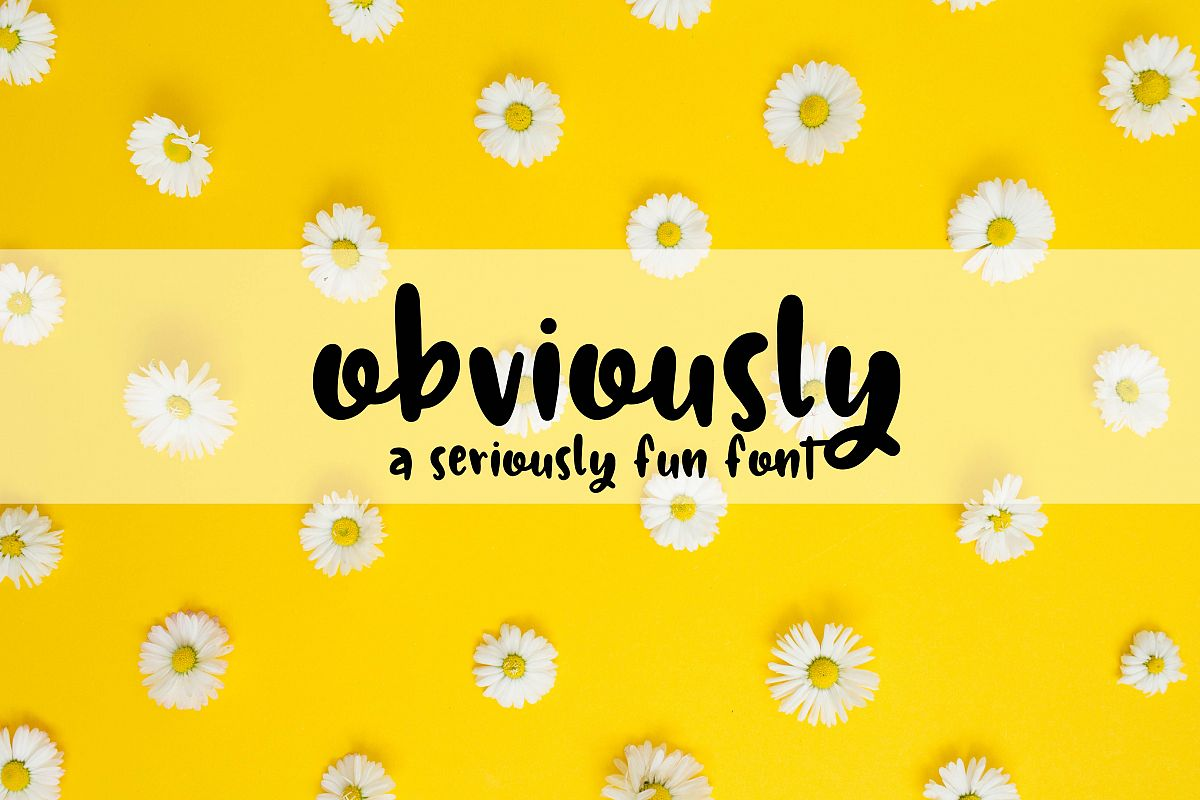 Obviously - A Seriously Fun Font example image 1