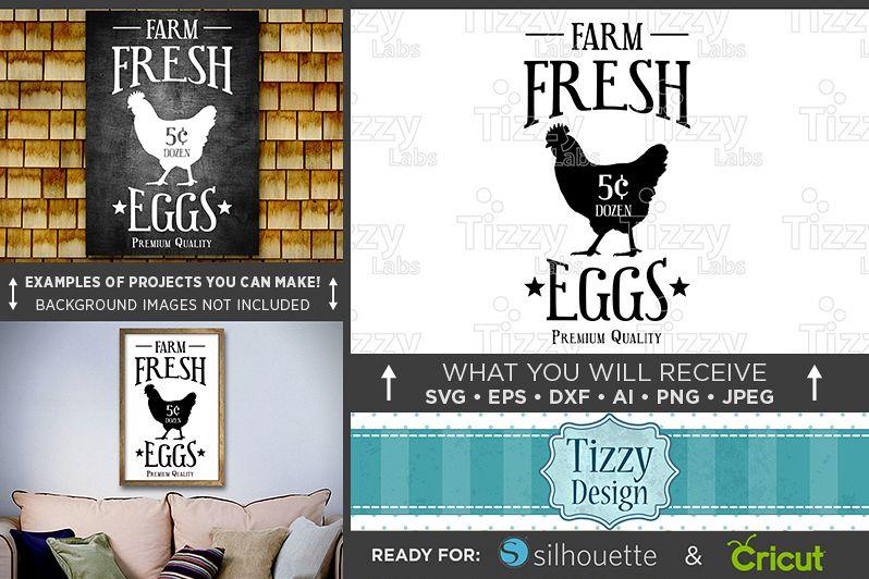 Farm Fresh Eggs Sign SVG - Farm Fresh Eggs SVG Farmhouse Sign SVG ...