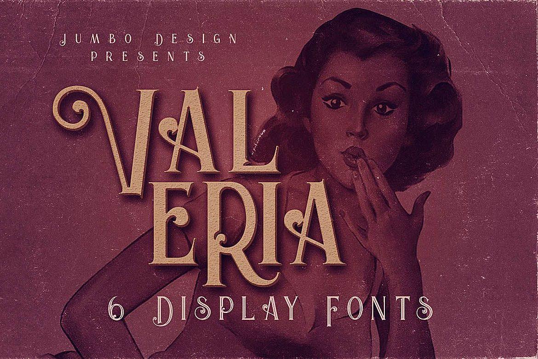 Valeria - Display Font example image 1
