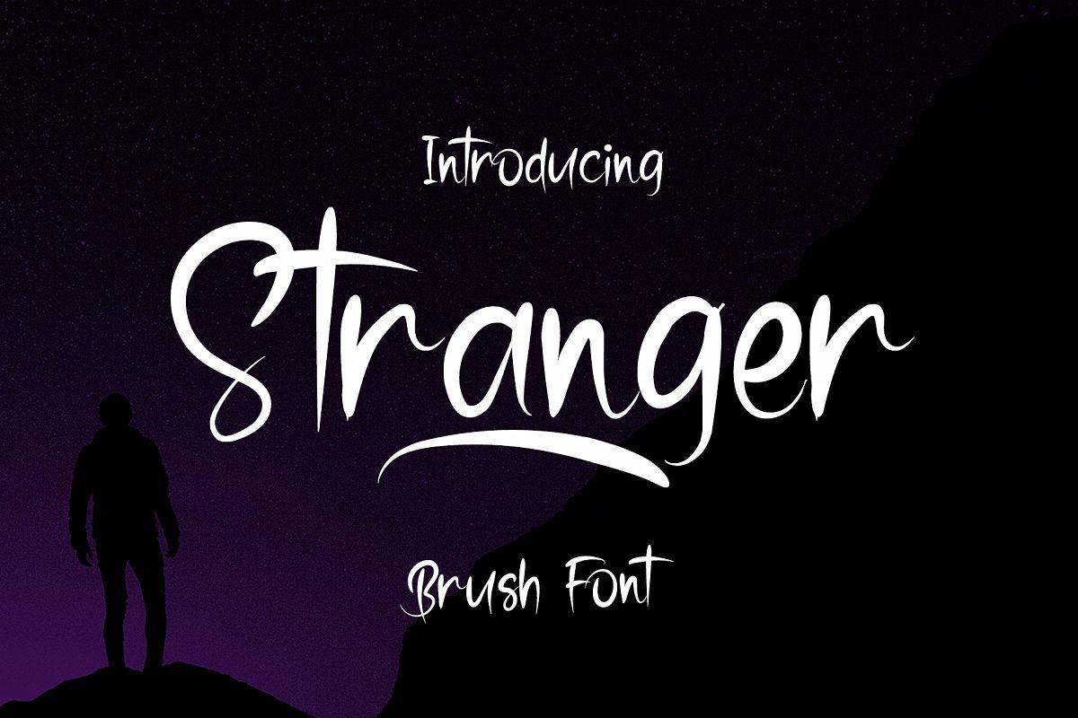 Stranger - Brush Font example image 1