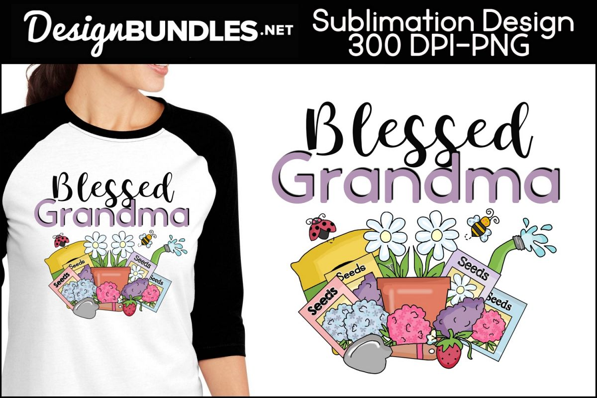 Blessed Grandma Sublimation Design example image 1