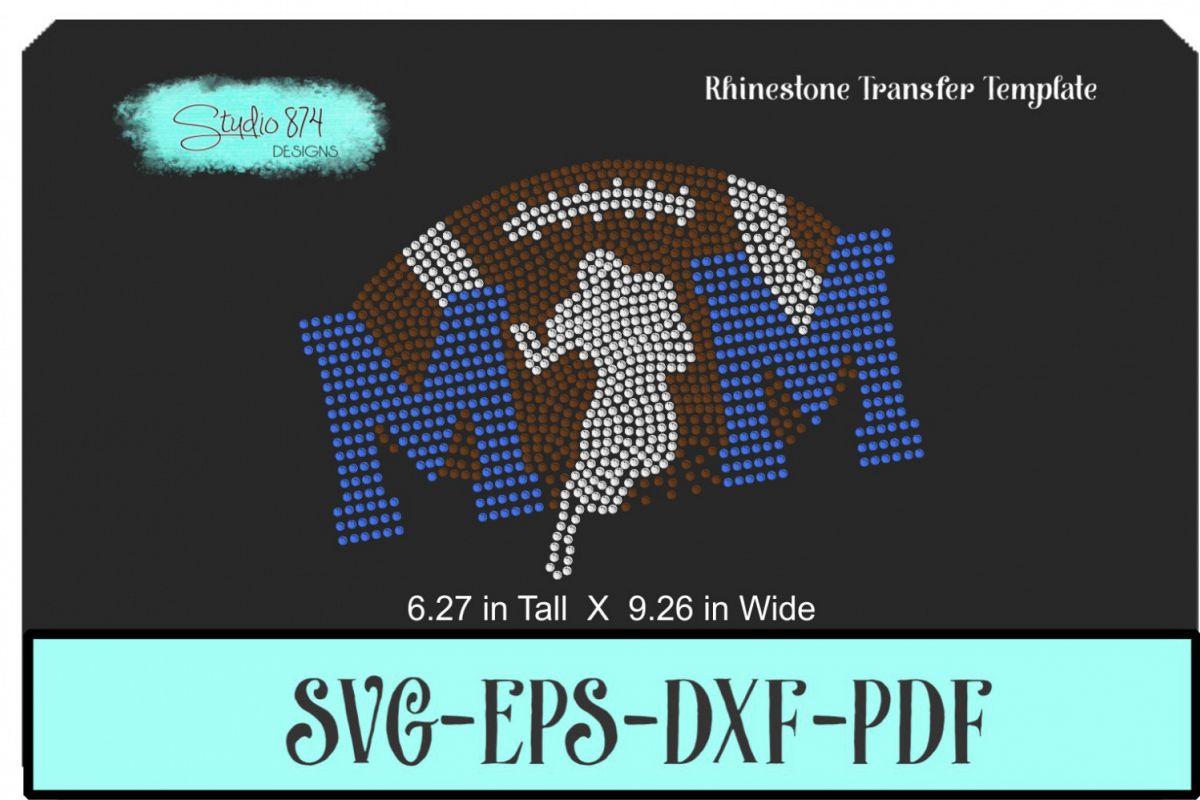 Football Mom Rhinestone Template Digital Download example image 1