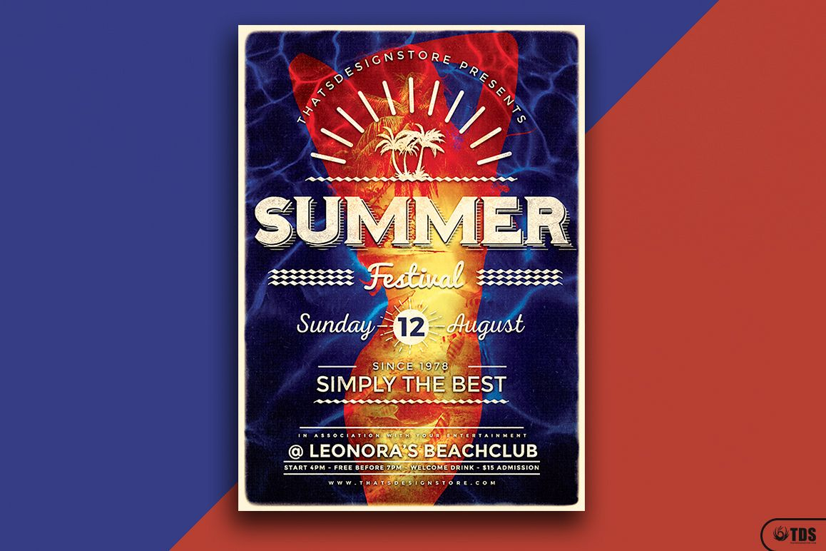 Summer Fest Flyer Template V3 example image 1