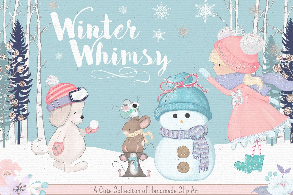 Winter Whimsy Clipart Collection example image 1