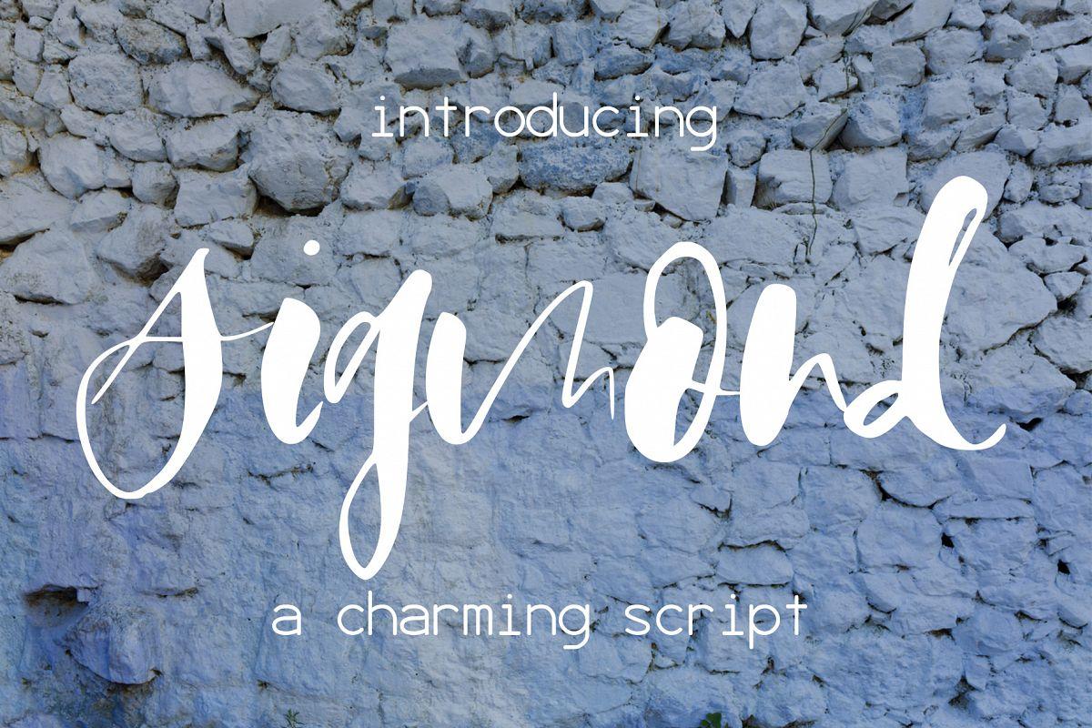Sigmond Font example image 1