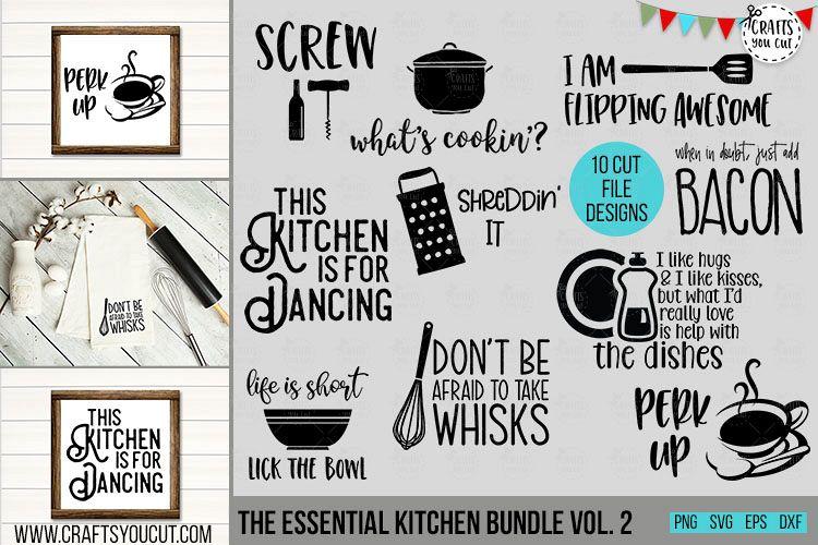 Essential Kitchen Bundle Vol. 2- An SVG Cut File Bundle example image 1
