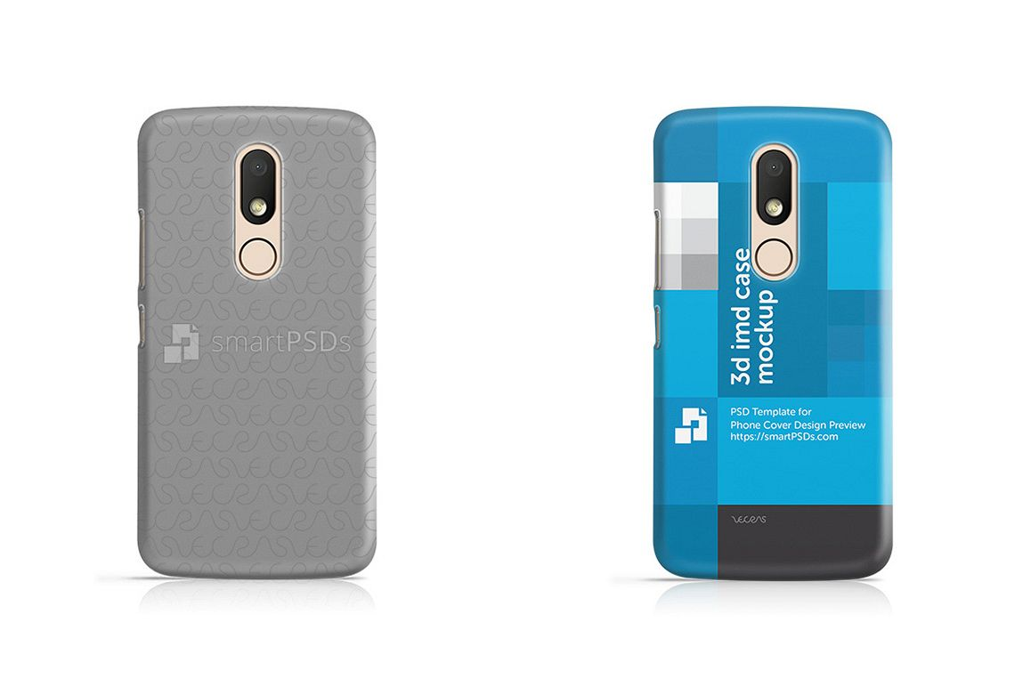 Motorola Moto M 3d IMD Mobile Case Design Mockup 2016 example image 1