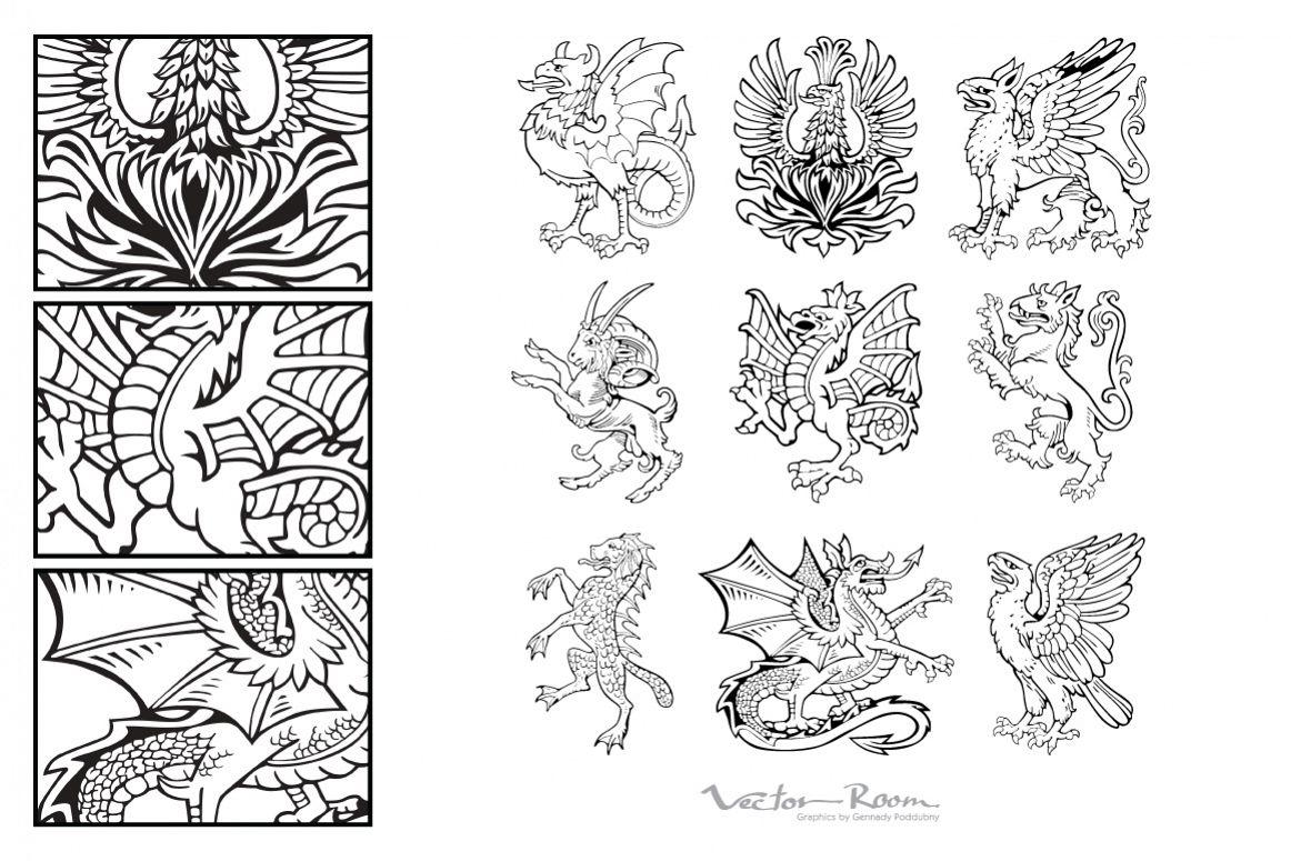 Heraldic Monsters Vol. II example image 1