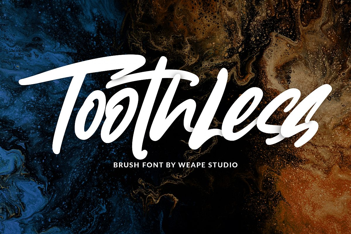 Toothless - Brush Font example image 1