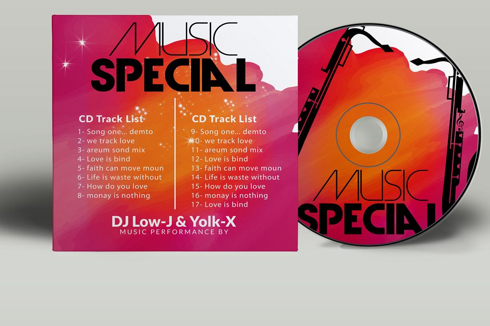 CD Covers Templates ( NOT a Mockup ) example image 1
