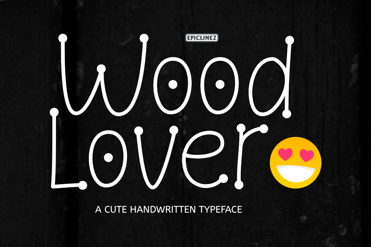 Wood Lover - A Cute Display Font example image 1