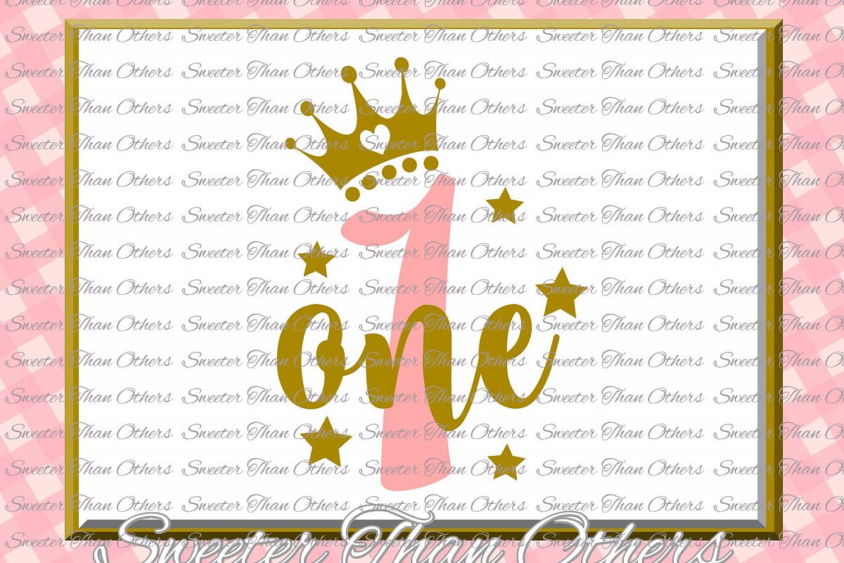 First Birthday SVG, one Birthday cut file example image 1