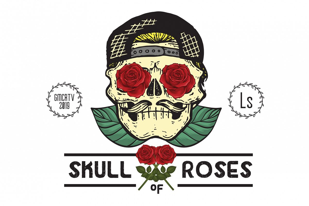 Skull of roses example image 1