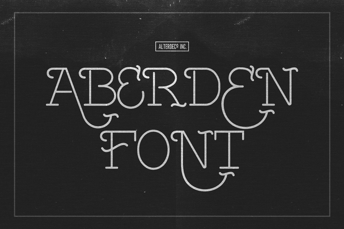 Aberden font example image 1