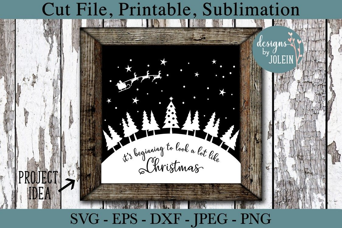 Look a lot like Christmas SVG, png, eps, DXF, sublimation example image 1