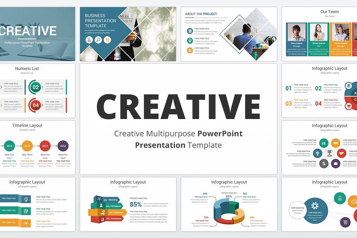 Creative multipurpose PowerPoint Presentation Template example image 1