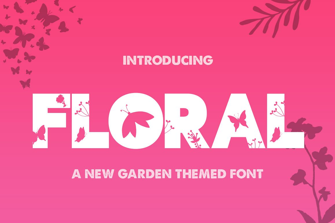 The Floral Font example image 1
