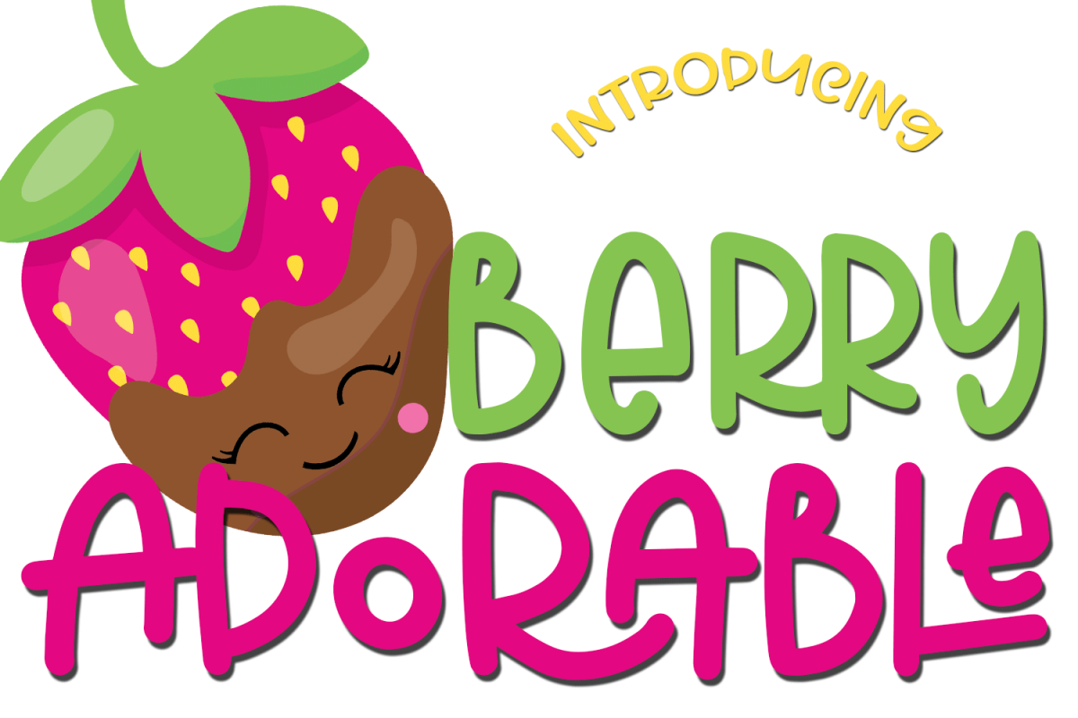 Berry Adorable Font example image 1