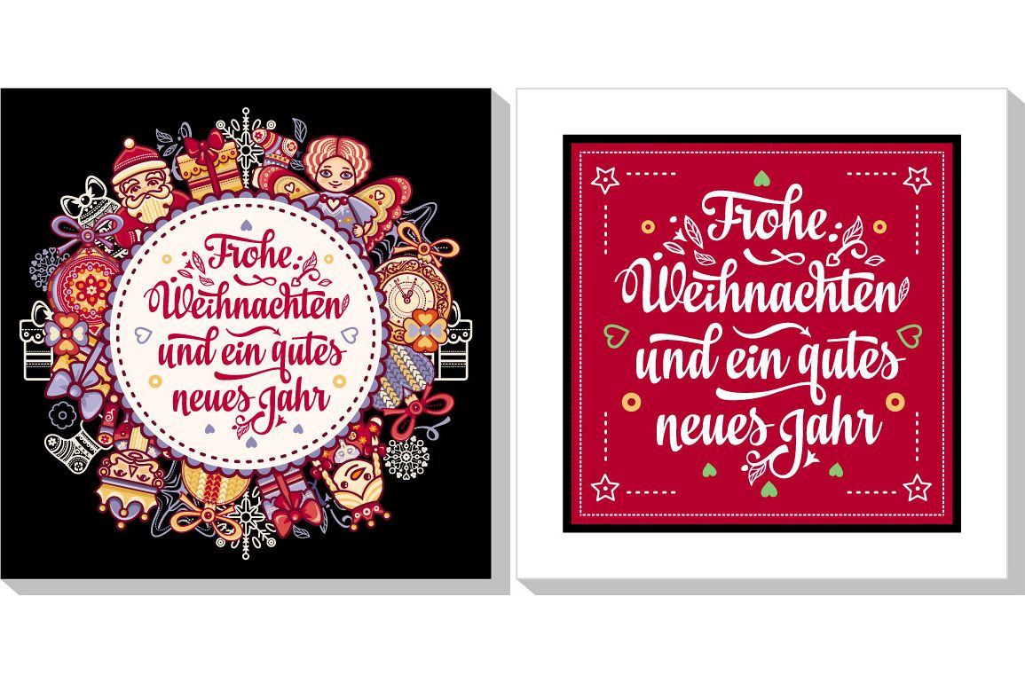 Frohe Weihnacht Neues Jahr Congratulations In German Language