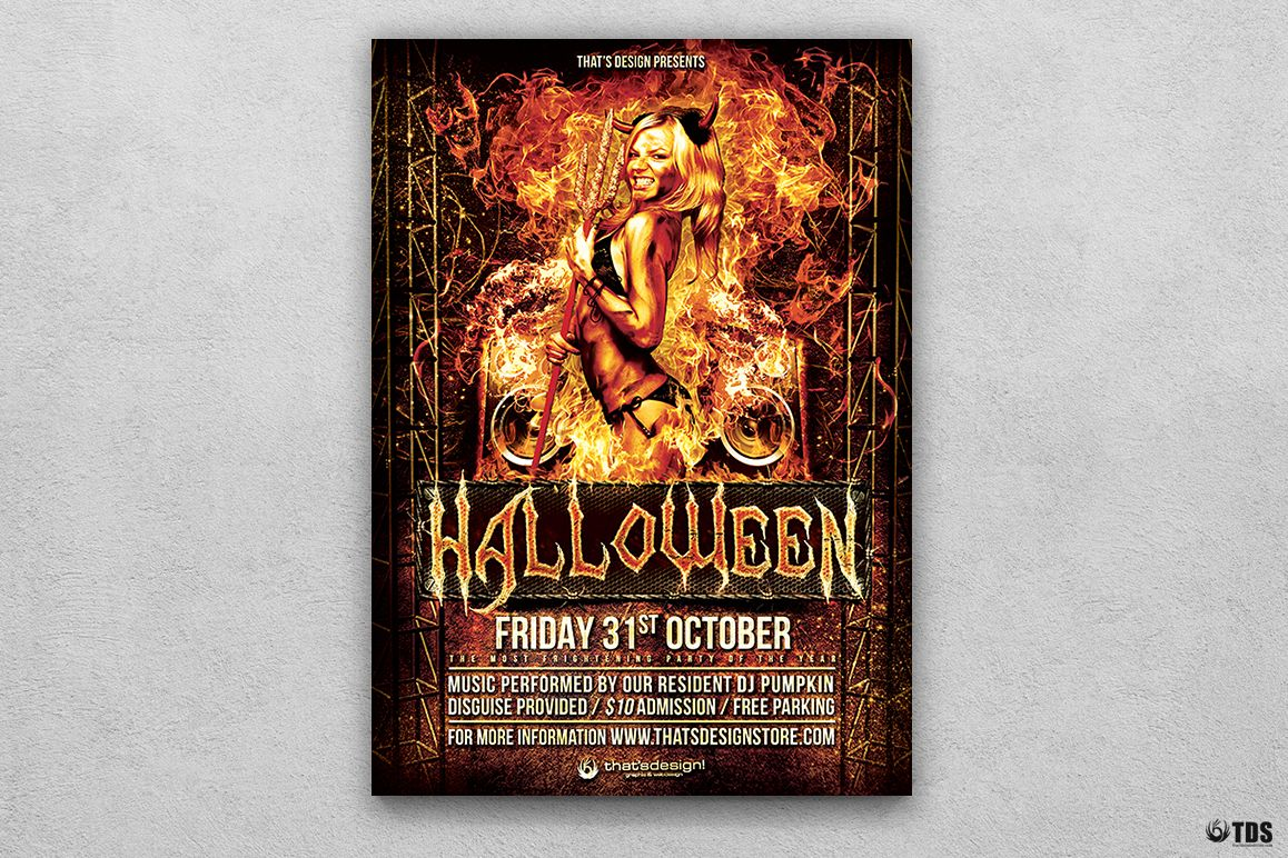 Halloween Flyer Template V3 example image 1