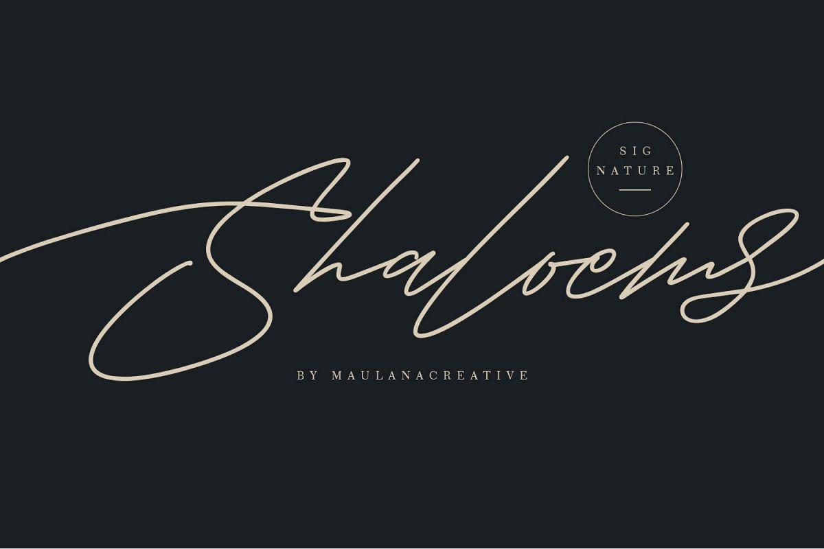 Shaloems Handwritten Signature Font example image 1